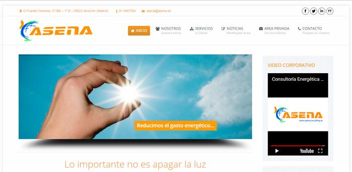Página web asesoria energetica