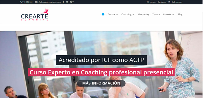 Página web coaching
