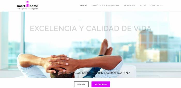 Páginas web domótica