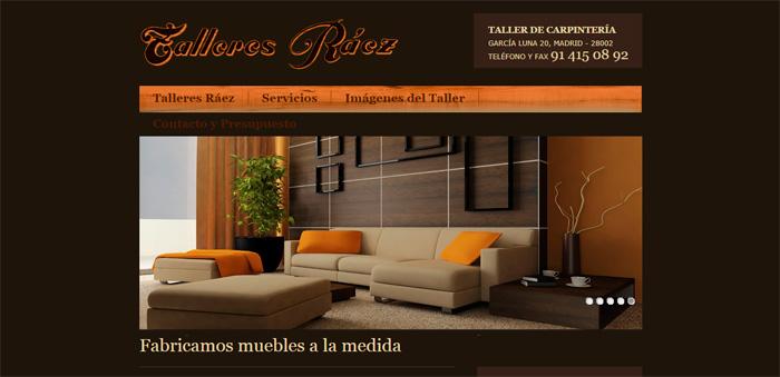 Página web muebles