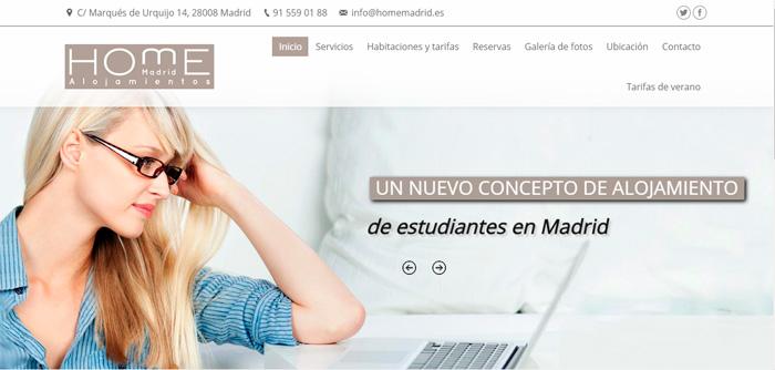 Página web residencia estudiantes