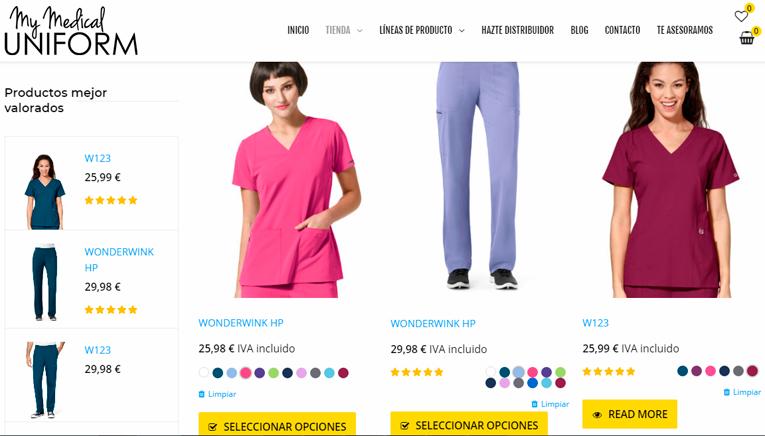 Tienda online vestuario laboral